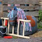Kostenloses Schnittmuster für einen Pferde-Sitzsack - Snaply Magazin DE