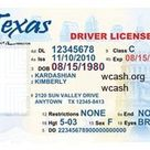 id card template driver license u.s. states
