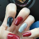 Red Black Silver Coffin Nails great for Christmas or Vegas ...