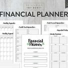 Finance Printable Planner, Budget Planner, Monthly Budget Planner, Expense Tracker, Financial Planner Insert, Bill Tracker Budget Printable