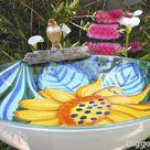 How to Make A Cute Serving Bowl Birdbath For $5