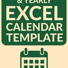 FREE Monthly & Yearly Excel Calendar Template