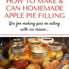 Canning apple pie filling makes for a QUICK and tasty treat!