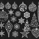 Christmas Clipart Holiday Clipart Christmas Chalkboard Digital   Etsy