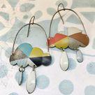 Mod Sun Ray Rain Clouds Zero Waste Tin Earrings