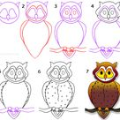 How to Draw an Owl (Step by Step Pictures)
