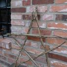 Fünfzackiger Stern aus Zweigen - Karin Urban-NaturalSTyle