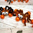 Bastelidee Halloween Kastanienspinne und Fledermaus   Cuchikind