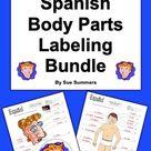 Spanish Body Parts Labeling Bundle   Cuerpo y Cara