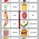 Fast Food ESL Printable Dominoes Game For Kids