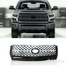 Front Grille Fit For Toyota Tundra 2014-2020 ABS Mesh Grill Replacement Black  | eBay