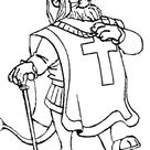 King Richard Walking Proudly In Robin Hood Coloring Pages