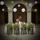 Pink Green Wedding