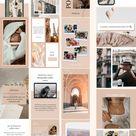 85 Instagram Template Bundle for Canva, Social Media Template to custimize, Instagram Media Kit