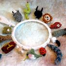 care of magical creatures charm bracelet 3 pattern by tiny owl knits
