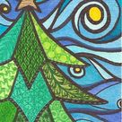 Season Greeting 2013 Christmas tree series by Jenny Luan