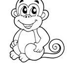 Ausmalbild Affenbaby zum Ausdrucken