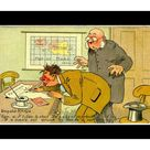 Mouse Mat. Comic postcard, Drunkard signing petition to shut the