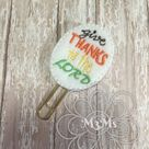 Thanksgiving Paper Clip-Thanksgiving Planner Paperclip-Planner Accessories-Give Thanks To the Lord B