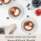 No Bake Vegan Breakfast Fruit Tarts
