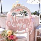 Baby Shower Chair Sign Mommy to Be Wooden Cutout in Custom Colors for Baby Shower Decoration for New Mom Pink Blue Etc (Item - MCS200)