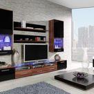 Chicago 3 - plum and black entertainment unit