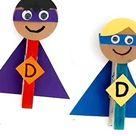 Clothespin Super Dad Craft