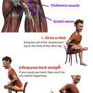 Seated Piriformis Stretch for sciatica pain relief