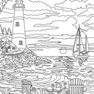 Lighthouse - Printable Adult Coloring Page from Favoreads (Coloring book pages for adults and kids, Coloring sheets, Coloring designs)