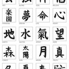 Cinesische Buchstaben