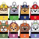Paw patrol Favor Bags, paw patrol Party Bags Printable, paw patrol DIY Gift Bag, paw patrol Birthday Printable, Digital Files