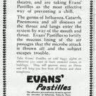 Box Canvas Print. Advert for Evans Pastilles against influenza