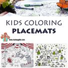 Kids Coloring Placemats