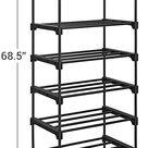 10 Shelves Multifunctional Shoe Rack