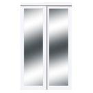 Harmony 1-Lite Mirrored Sliding Closet Door