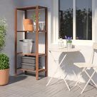 TORDH brown stained, Shelving unit, outdoor, Width: 70.0 cm Height: 161 cm - IKEA