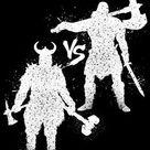 Metal Poster Viking Vs Barbarian