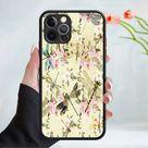 Flower wallpaper phone case cover 202 Black (Apple Models Only) - 4