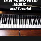 ODE TO JOY EASY PIANO SHEET MUSIC and Tutorial