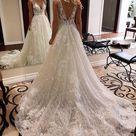 V neck Sparkly Wedding Dresses with Appliques ,Fashion Custom made Bridal Dress PDW065   US2 / Red / No