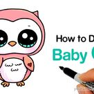 How to Draw a Baby Owl Easy