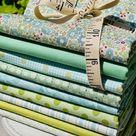 Tilda bundle of Green and Teal - Choose Your Bundle Size