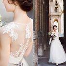 SIMPLE wedding dress  lace wedding dress  elegant bridal   Etsy