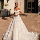Moonlight H1449 Fairytale Princess A line Wedding Dress with Swag Sleeves