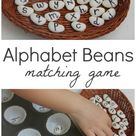 Matching Alphabet Beans Literacy Game - The Imagination Tree