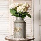 Vintage Rustic Metal Vase | URBAN ECHO SHOP