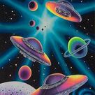 'Space ufo planets' by leen12
