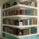 Corner Bookshelves