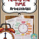 Telling the time - Arbeitsblatt + Tafelbild – Unterrichtsmaterial im Fach Englisch