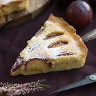 Einfache und leckere Pflaumen-Frangipane-Tarte mit Mandeln